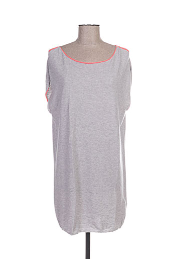Robe pull gris ALLUDE pour femme