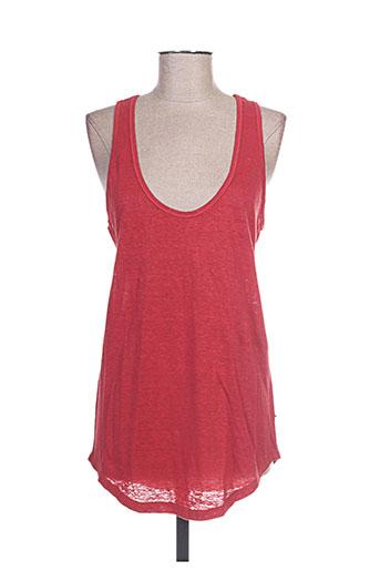 et vous t-shirts femme de couleur rouge