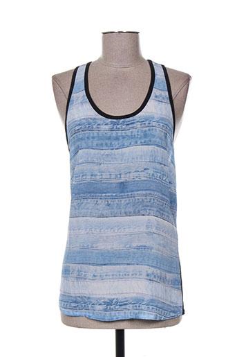 barbara bui t-shirts femme de couleur bleu