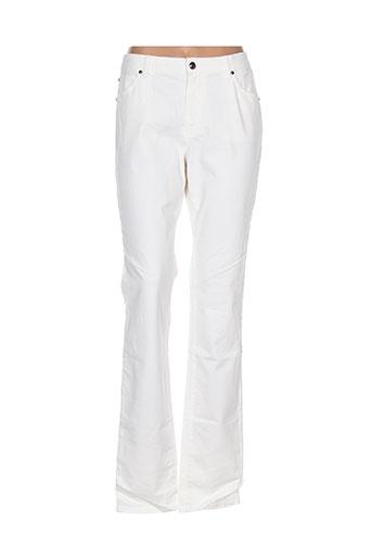 cerutti pantalons femme de couleur blanc