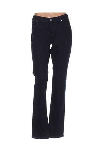 cerutti pantalons femme de couleur bleu