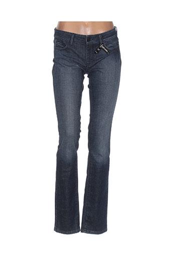 Jeans coupe droite bleu CORLEONE pour femme