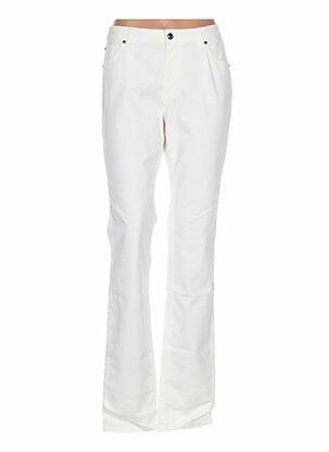 Pantalon casual blanc CERUTTI pour femme