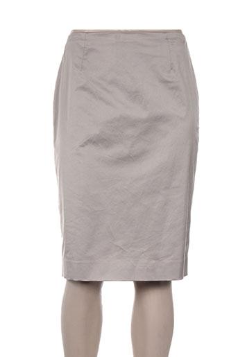 Jupe mi-longue gris PAULE KA pour femme