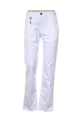 Pantalon casual blanc INCOTEX pour femme