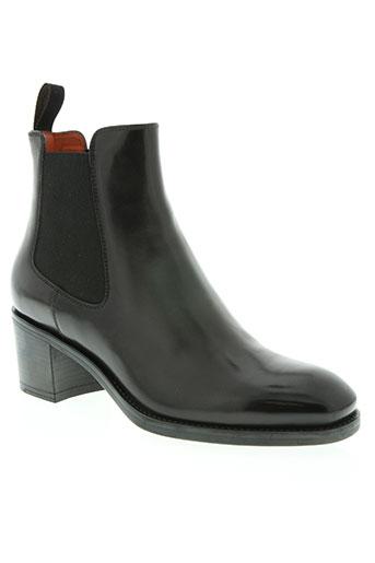 santoni chaussures femme de couleur noir