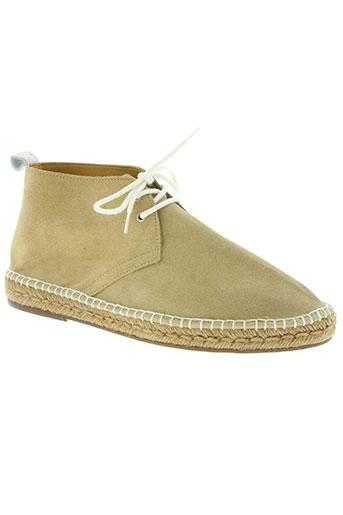 escadrille chaussures homme de couleur beige