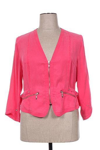 pause cafe vestes femme de couleur rose