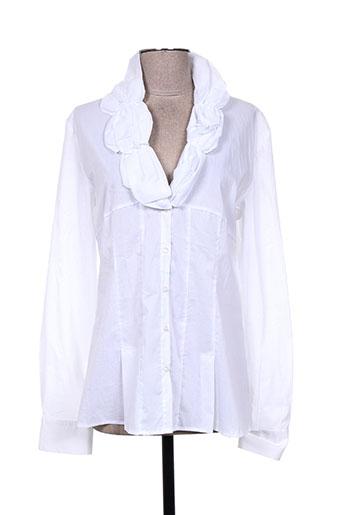 zeno bie chemises femme de couleur blanc