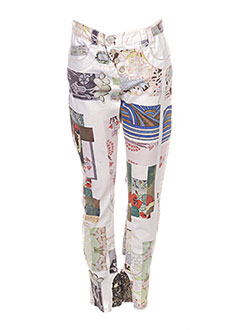 Pantalon casual blanc DANIELA DALLAVALLE pour femme