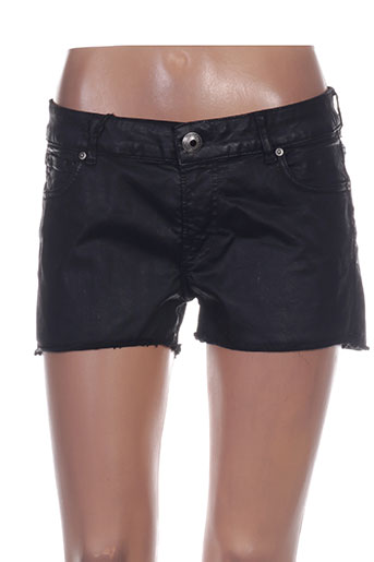 heartless jeans shorts / bermudas femme de couleur noir