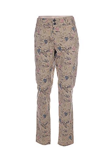 on.you pantalons femme de couleur vert