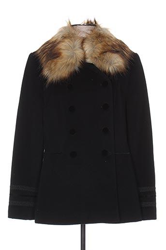 Manteau court noir WEINBERG pour femme