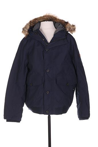 timberland vestes homme de couleur bleu