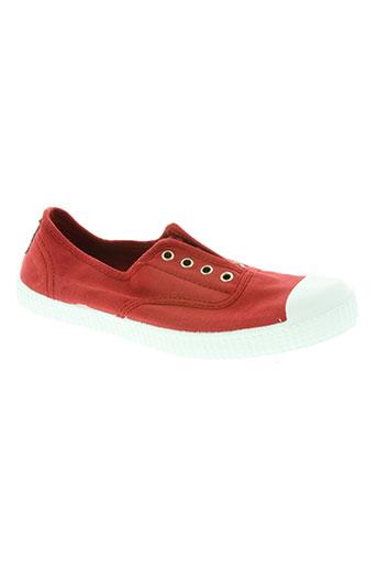 elue par nous chaussures femme de couleur rouge