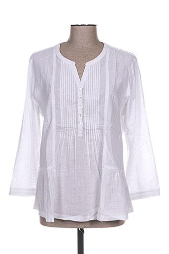mistral chemises femme de couleur blanc