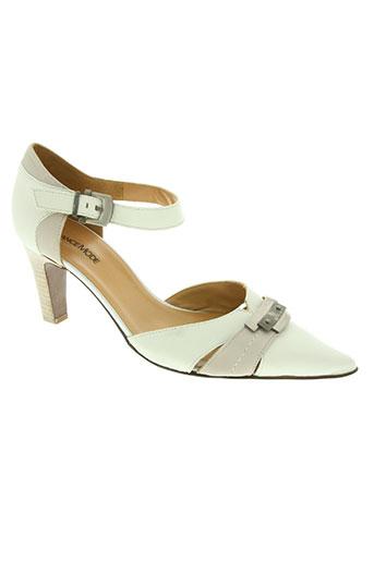 france mode chaussures femme de couleur blanc