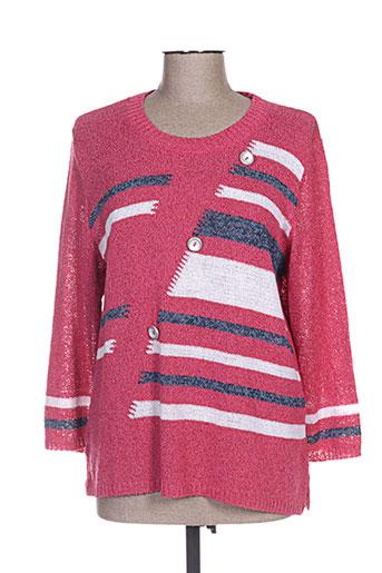 plurielles pulls femme de couleur rose