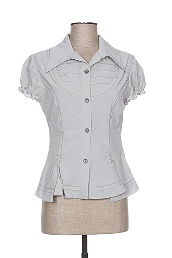 l33 chemises femme de couleur gris