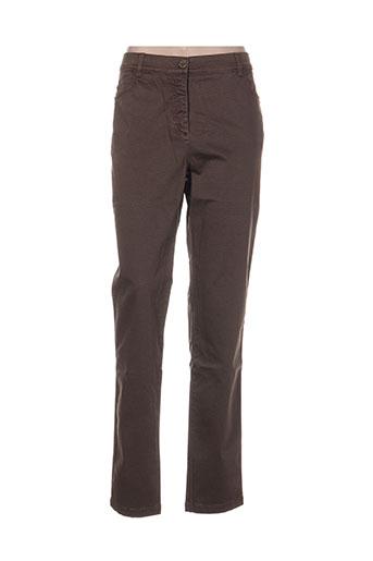 mae mahe pantalons femme de couleur marron