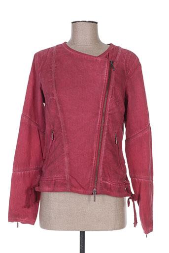 Veste casual rouge ET COMPAGNIE pour femme
