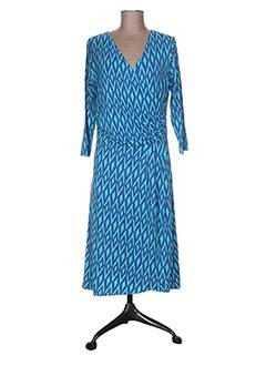 Robe mi-longue bleu HATLEY pour femme