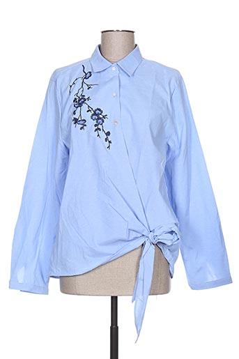 season chemises femme de couleur bleu