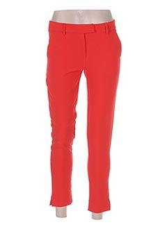 Pantalon 7/8 rouge HOLLY & JOEY pour femme