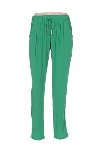 y'coo pantalons femme de couleur vert