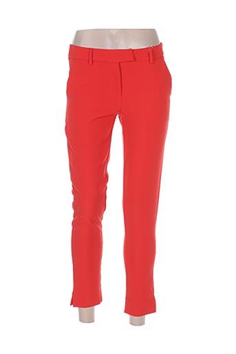holly & joey pantalons femme de couleur rouge