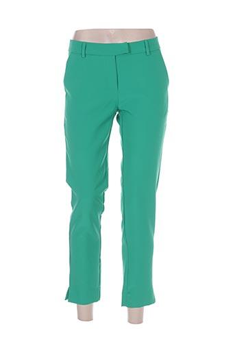 holly & joey pantalons femme de couleur vert