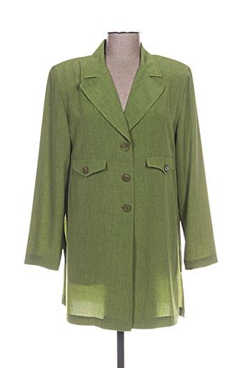 Chemisier manches longues vert CLAUDE BAUER pour femme