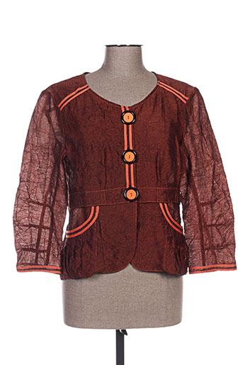 Veste casual orange QUATTRO pour femme