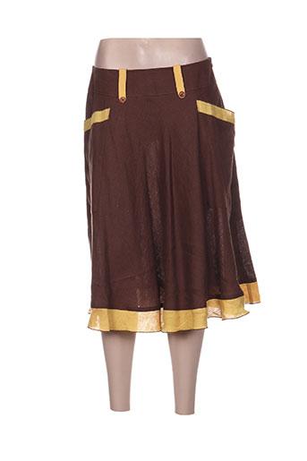 quattro jupes femme de couleur marron