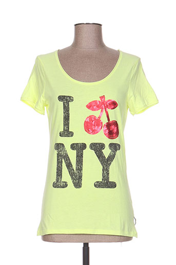 le temps des cerises t-shirts femme de couleur jaune