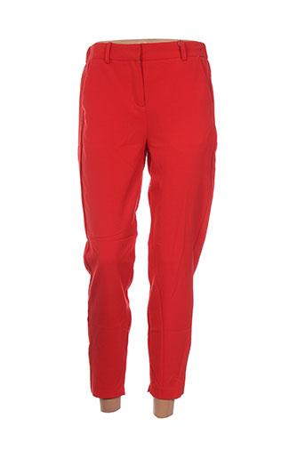 b.young pantalons femme de couleur rouge