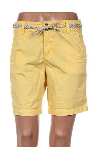 esprit shorts / bermudas femme de couleur jaune