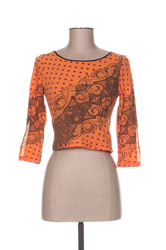 levana lee t-shirts femme de couleur orange