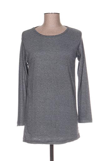 T-shirt manches longues gris COTTON KRAFT pour femme