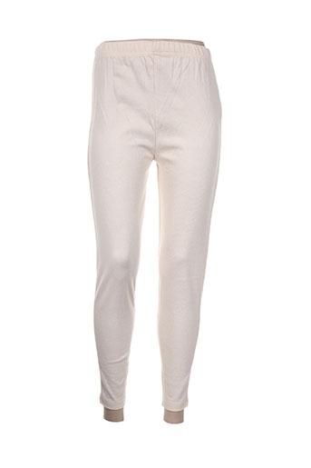 maille street pantalons femme de couleur beige