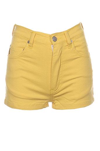 rock'n 'roll shorts / bermudas femme de couleur jaune