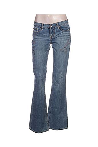 lulucastagnette jeans femme de couleur bleu