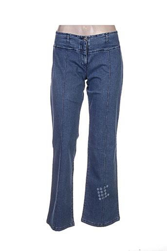 cheyenne pantalons femme de couleur bleu