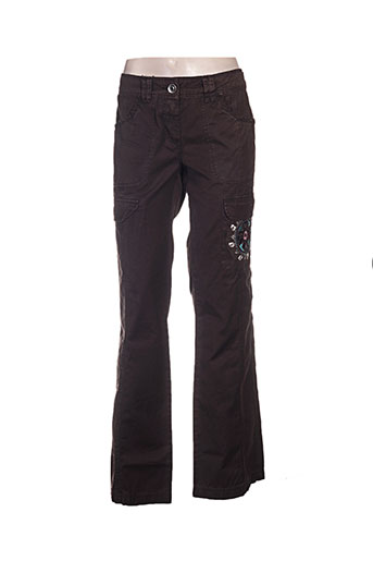 ddp pantalons femme de couleur marron