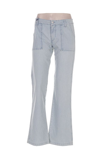 Pantalon casual bleu INDIAN ROSE pour femme