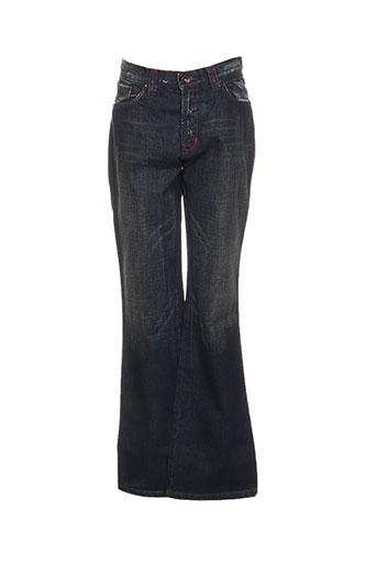 lulucastagnette jeans fille de couleur bleu
