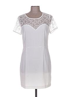 Robe courte blanc CHARLISE pour femme