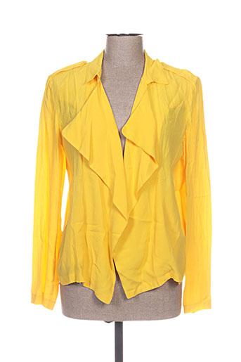 marie-sixtine vestes femme de couleur jaune