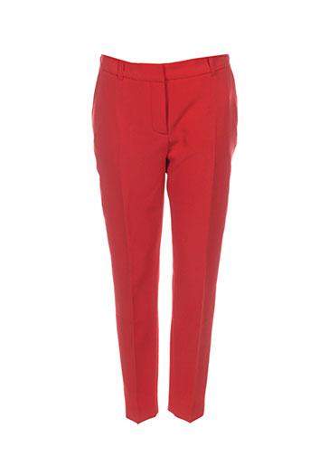 chrom pantalons femme de couleur orange