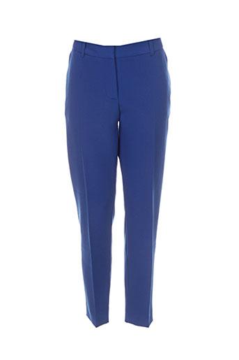 chrom pantalons femme de couleur bleu
